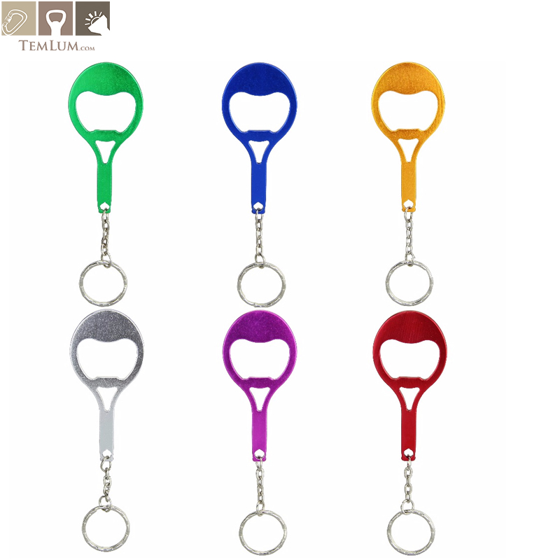 US $6 09 39% OFF|TEMLUM 6 Pcs/ 6colors Tennis Racquet Custom Personalized  Beer Bottle Opener Keychains Aluminum Alloy Bottle Opener Freeshipping-in