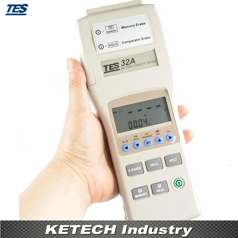Тестер емкости аккумулятора RS 232 TES32A