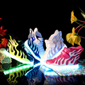 Hot Selling New 2016 Fashion Wings shoes baby Light Shoes High Top luminous Led Shoes EUR 25-38