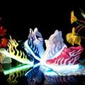 Venta caliente Nuevo 2016 Moda Alas zapatos de bebé Zapatos del Top del Alto luminoso Llevó la Luz Zapatos EUR 25-38
