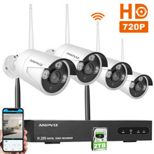 4CH NVR Kit Wifi 720P Wireless Cameras System Security Outdoor IP Camera Wifi Surveillance High Quality CCTV System