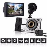 Cimiva D05 להדגיש מקליט נהיגה מסך מגע מירור + GPS ניווט GPS מעקב ראיית לילה הקלטת לולאה