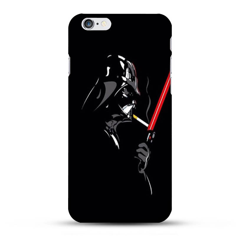 Hot New star wars smoking 1Pc Black Case for iphone 6 6s House