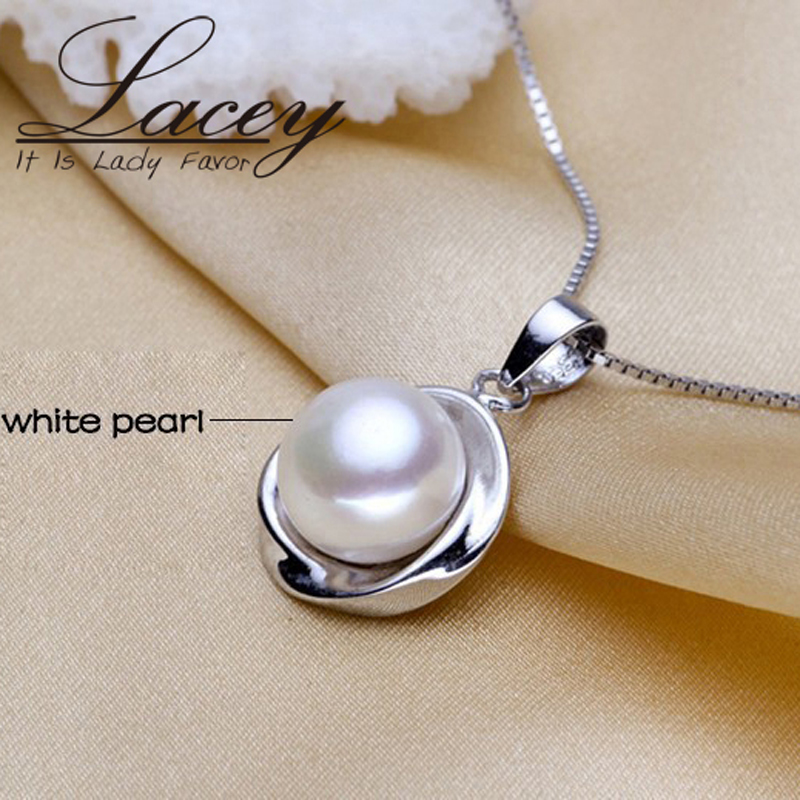 Bridal real natural freshwater pearl jewelry set wedding silver sterling 925 necklace pendant and earrings birthday party gift in Jewelry Sets from Jewelry Accessories