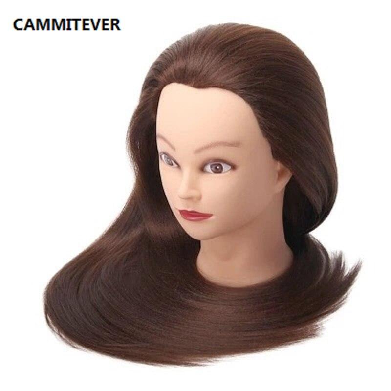 Brun Cheveux De Coiffure Poupées Tête de Femme Mannequin Coiffure Tête de La Formation Belle haute qualité Mannequin Tête
