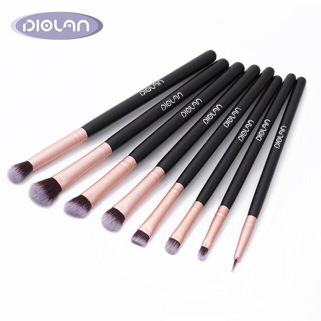 Brocha de sombra de ojos DIOLAN 8 piezas conjunto de brochas de maquillaje profesional completo brochas de pestañas para cosméticos