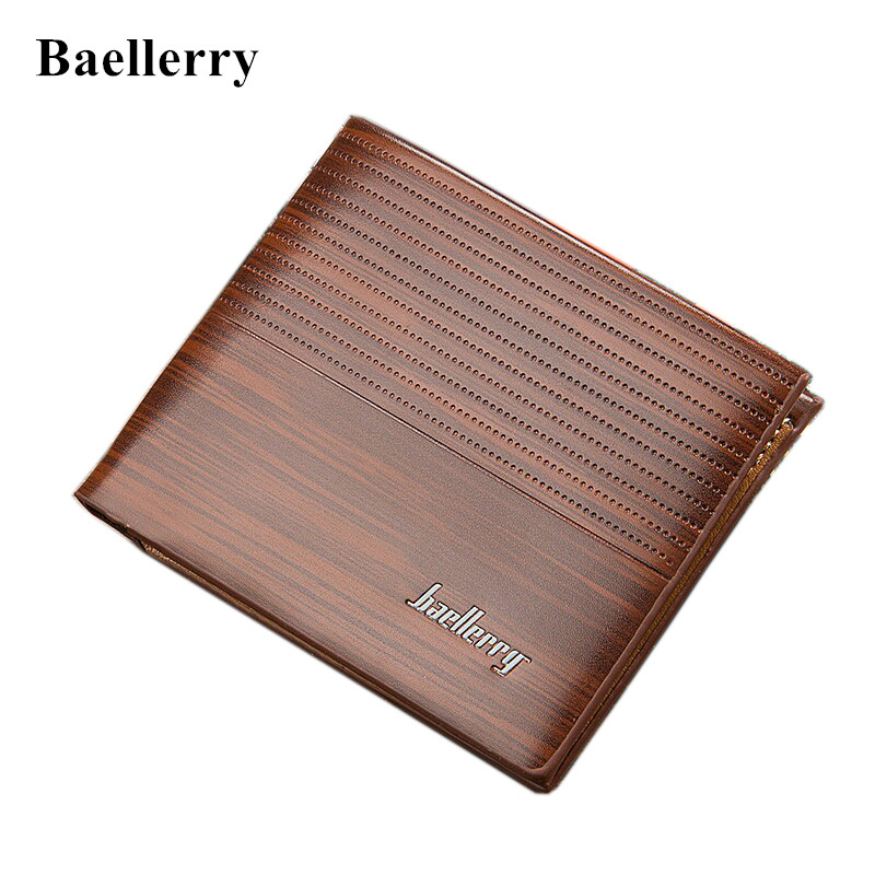 2018 New brand Baellerry short men's wallet fashion small dot card purse causal horizontal card holder for male