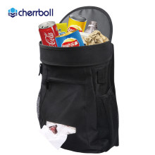 Cherrboll Auto Seat Black Portable Fold Leakproof Crevice Storage Box Grain Organizer Gap Slit filler Holder Car Grocery Bag