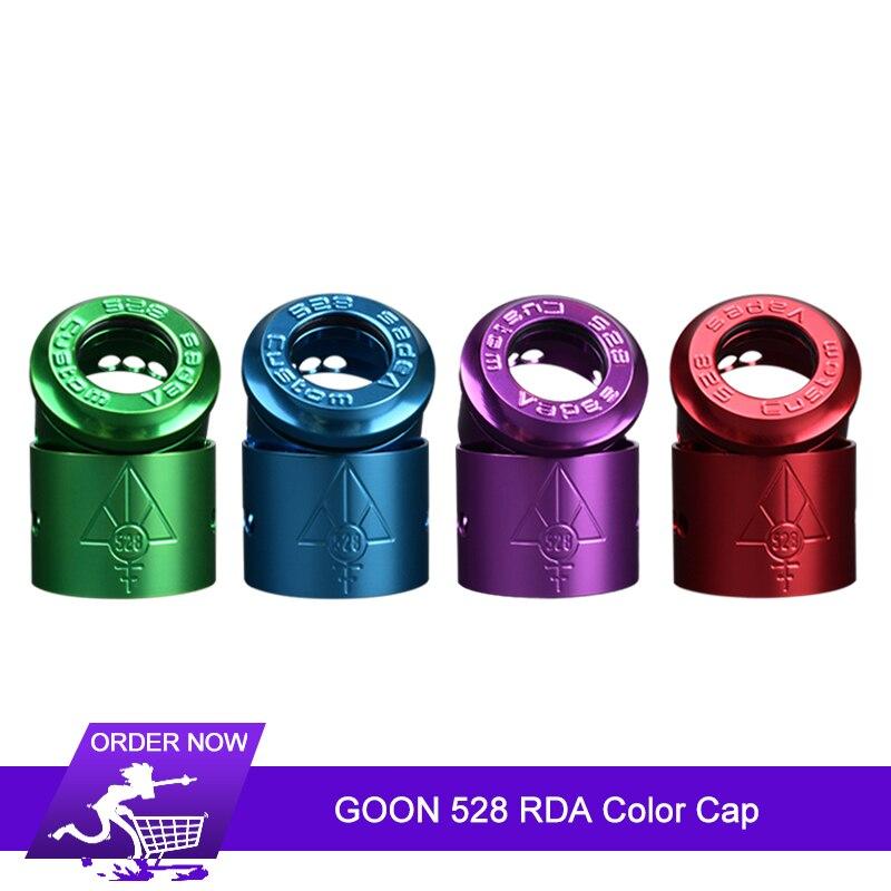 100% Original Cor Cap Cap Substituição Kit para tonto TONTO 528 RDA 24 milímetros RDA Atomizador Cigarro Eletrônico Acessórios