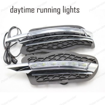 2 PCS DRL Daytime Running Light Waterproof 12V Car Styling For B/enz C200 C260 C300 2008 -2010 car styling