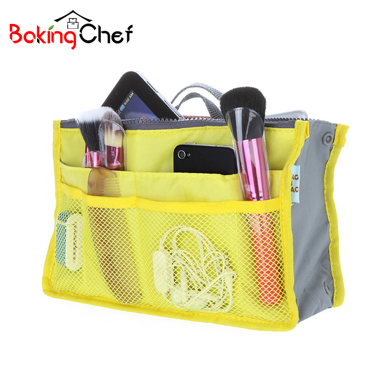 BAKINGCHEF Womens Mens Toiletry Cosmetic Organizer Phone Sundries Storage Bag Casual Wash Travel Camping Overnight Accessories