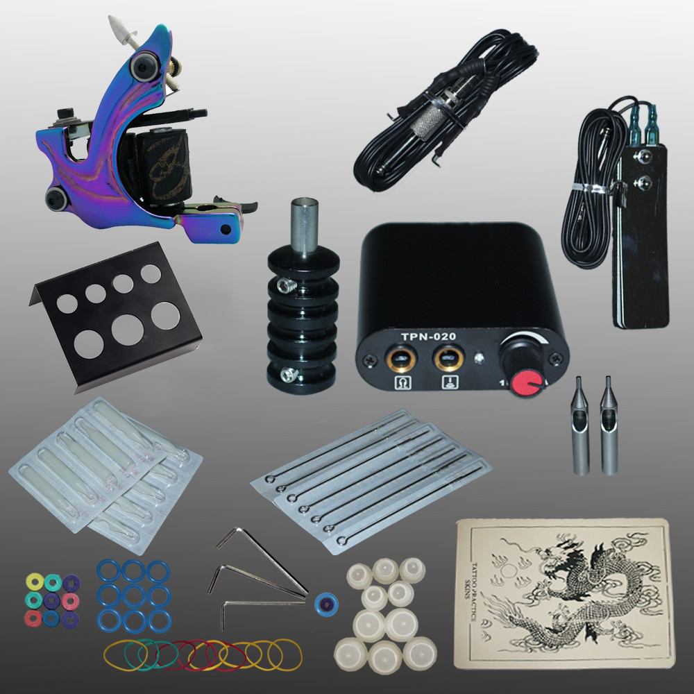 YILONG New Arrival 1 set Tattoo Kit Power Supply Gun Complete Set Equipment Machine Wholesale 1102104kitAYILONG New Arrival 1 set Tattoo Kit Power Supply Gun Complete Set Equipment Machine Wholesale 1102104kitA