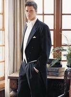 2016 جديد وصول رجال خمر الأسود tailcoats حقق التلبيب الزفاف بدلات للرجال الزفاف تريم صالح 3 أجزاء الرسمية رفقاء دعوى