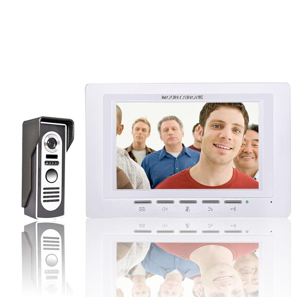 FREE SHIPPING 7 Inch Video Door Phone Doorbell Intercom Kit 1 camera 1 monitor Night Vision