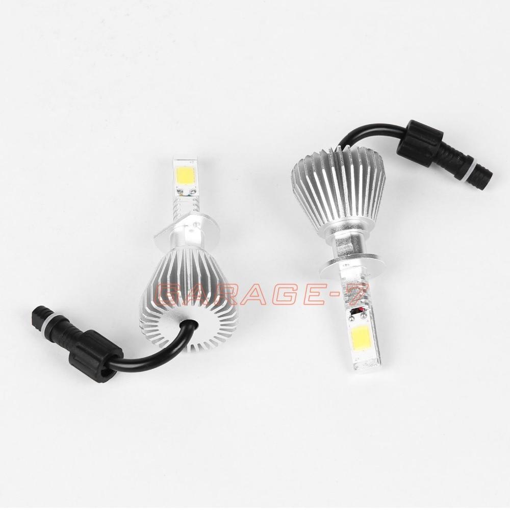 ФОТО 60W/Set 12V H1 2200LM 6000K Mini LED Headlight High Lumen Bulb COB Replacement  With No Fan Design One Pair