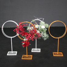 Wrought Iron Ring Flower Stand Wedding T Taiwan Road Lead Metal Bracket Dessert Table Arrangement Stage Dress