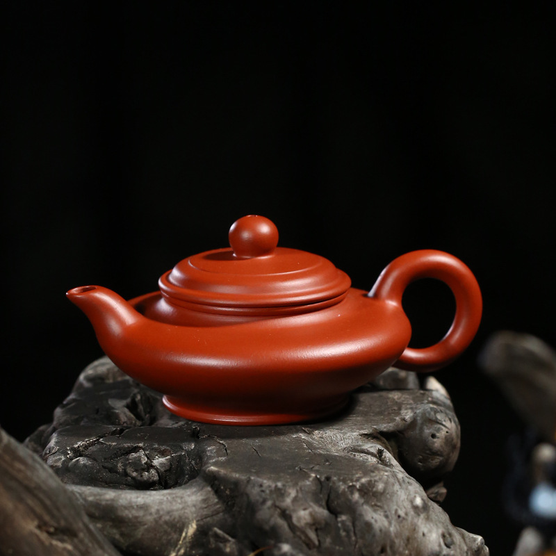 Yixing are recommended by the manual undressed ore dahongpao virtual flat pot recommended travel tea set giftYixing are recommended by the manual undressed ore dahongpao virtual flat pot recommended travel tea set gift
