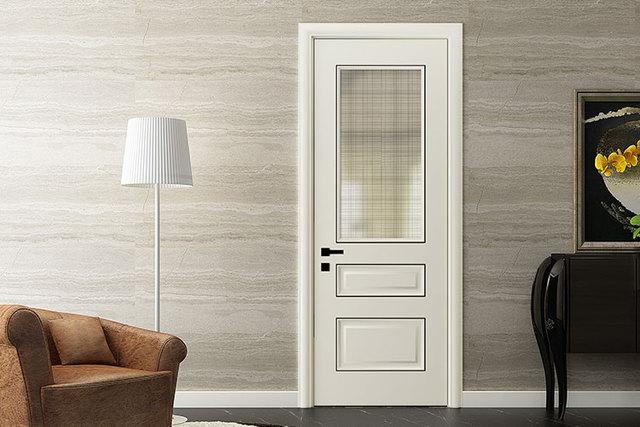 Glas Voor Badkamer : Oppein enkele witte lak houten glas inbouw badkamer swing deur