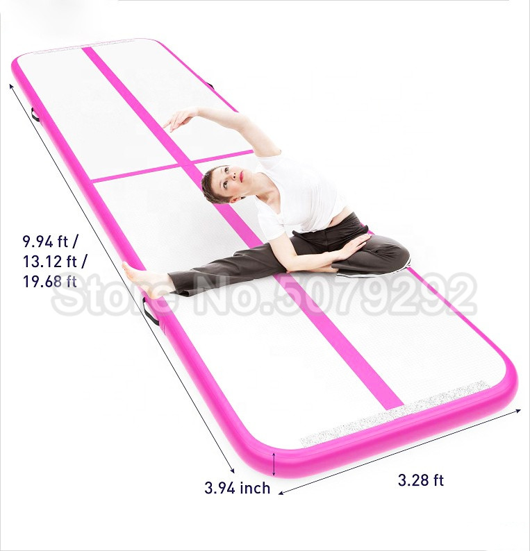 Inflatable Tumbing Mat Airtrack Free Shipping 3m*1m *0.1m Gym Mat Inflatable Gymnastics Tumble Track Air Floor Mini Size Air Mat