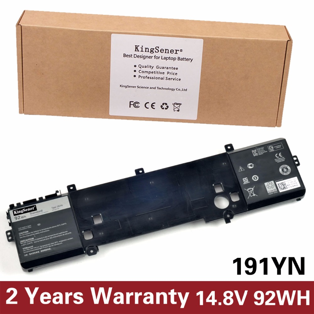 цены KingSener Japanese Cell New 191YN Laptop Battery for DELL Alienware 15 R1 15 R2 191YN 14.8V 92WH Free 2 Years Warranty