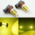 2pcs 80w H8 H11 4300K High Power LED Fog Light  Yellow Driving Bulbs 12V