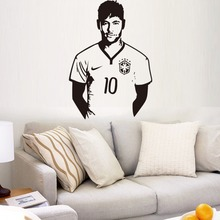 Free shiping Football celebrity omar boy in the bedroom decorates a wall to stick Can remove carved stickers