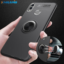 Case on For Huawei Honor 8x max Case 7.12inch Metal Ring Bracket Silicone TPU Cover For Honor 8X 360 Full Protective Shockproof(China)