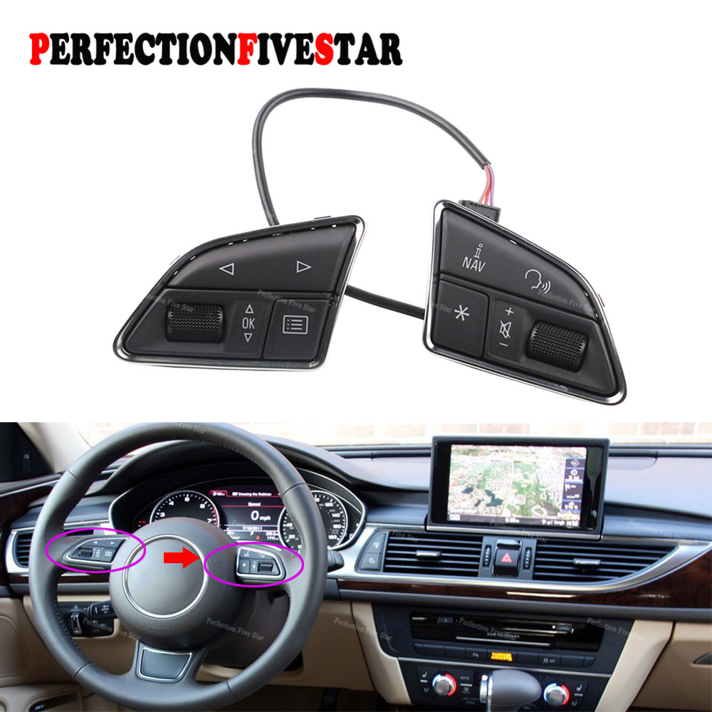 4G0951523D MMI Steering Wheel Multifunction Control Switch Button For Audi A1 A6 A7 2011 2012 2013 2014 2015 2016 цена