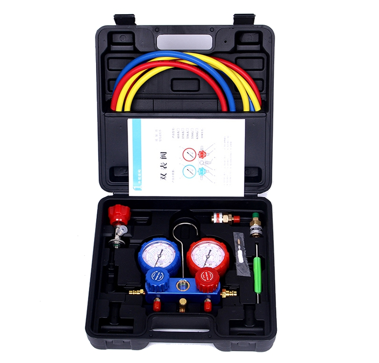Household Refrigeration Air Conditioning Manifold Gauge Maintenence Tools Car Set With Carrying Case for R410AHousehold Refrigeration Air Conditioning Manifold Gauge Maintenence Tools Car Set With Carrying Case for R410A