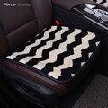 Karcle Carro da pele de Carneiro-Cobre Lã Tampa de Assento Do Carro com Anti-skid Pad Almofada Do Assento de Carro-styling Acessórios de automóveis