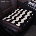 Karcle Sheepskin fur Car-Covers Wool Car Seat Cover with Anti-skid Pad Seat Cushion Car-styling Automobiles Accessories