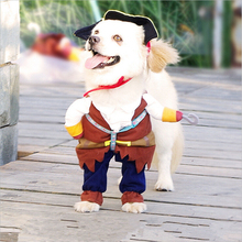 Hellomoon 2017 Brown Cute Style Keep Warm In Winter Cat Dog Clothes for Christmas Halloween Pirate Outfit
