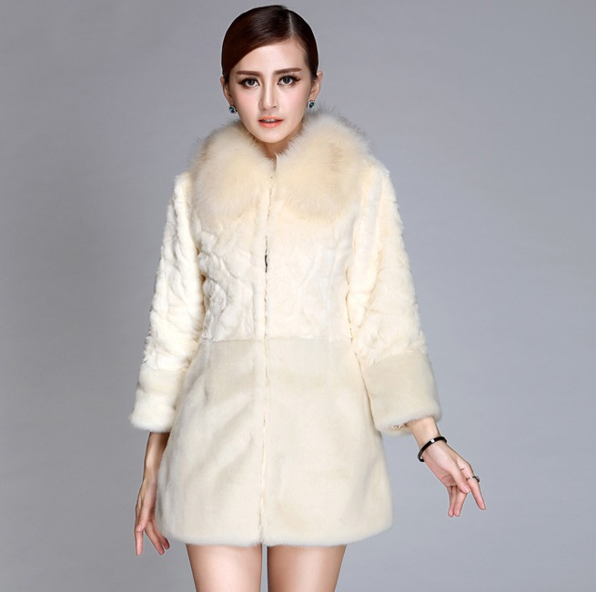 Copy Of New Fund Of 2017 Autumn Winters Is Long In A Fur Coat Imitation Of Rabbit Hair Female Coat New Product On Sale