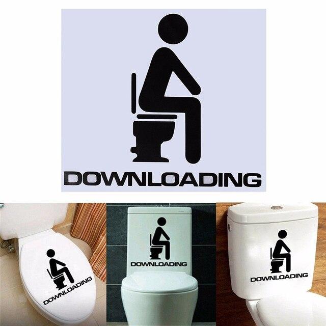 Funny Toilet Seat WC Bathroom DIY Vinyl Removable Wall Sticker Home Decals  Home Decor Wallpaper Poster. Wc Wallpaper   Emu Birds com