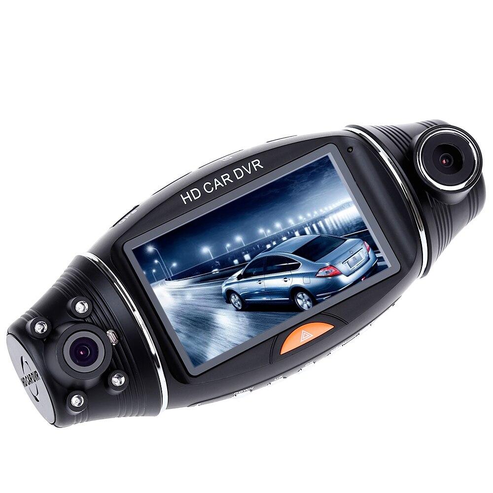 R310 Voiture DVR Caméra De Voiture DVR GPS Double Caméra HD 1080 P Night Vision Double Objectif DVR Enregistreur Dash Cam 2.7 Pouces Vidéo Enregistreur IR