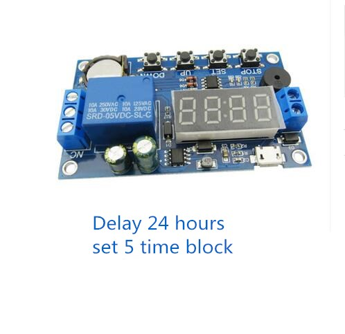 Delay Time Relay Module Timer relay Control Cycle Timer 5.0V--60V LED Display Intelligent Control Time Relay/Delay 1pc multifunction self lock relay dc 5v plc cycle timer module delay time relay