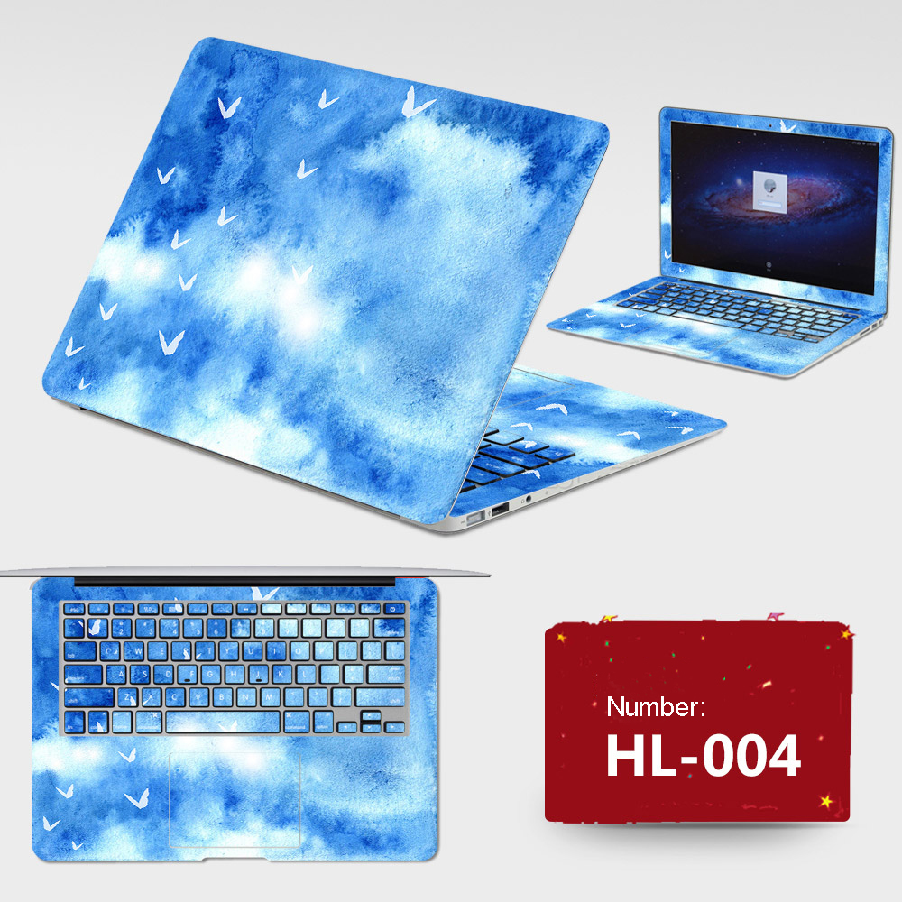 Latest ! 2017 Laptop Sticker Free Dustproof PVC Skins All Cover ABC Sides+Keys+Key Interstice Stickers For Asus X501a X502c Case
