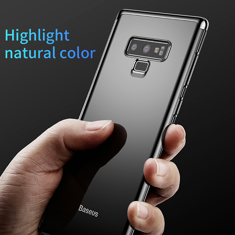 buy popular 848e7 c2660 US $3.95 25% OFF|Baseus Shining Phone Case For Samsung Galaxy Note 9  Transparent Clear Full Protection Cover Ultra Thin Mobile Phone Cases Coque  -in ...