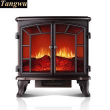Haut de gamme de style européen chauffe-Indépendant type électrique cheminée chauffe le four de chauffage