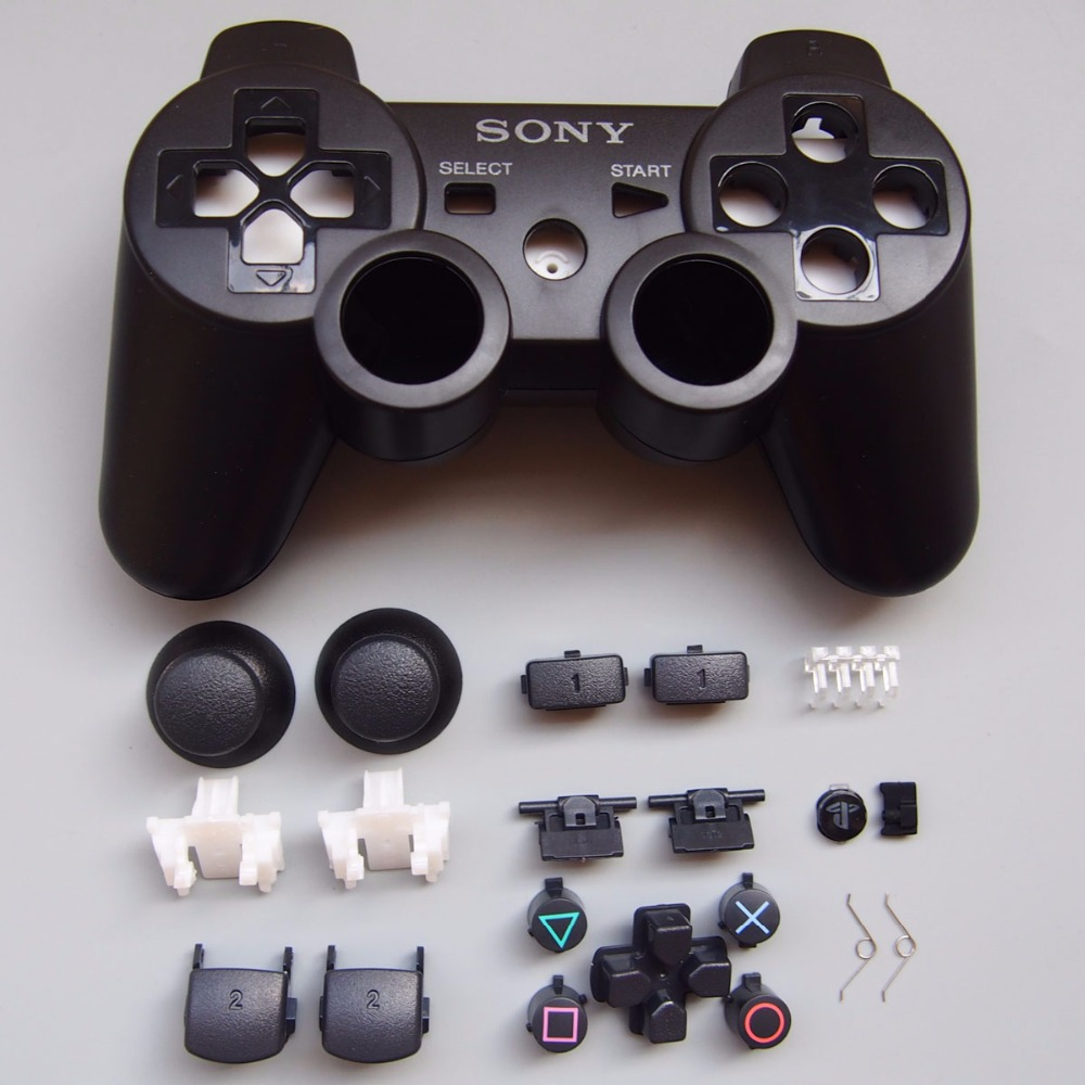 10set/lot Repair Parts game console Housing Case Shell with Full Buttons Accesories kits for PS3 Controller