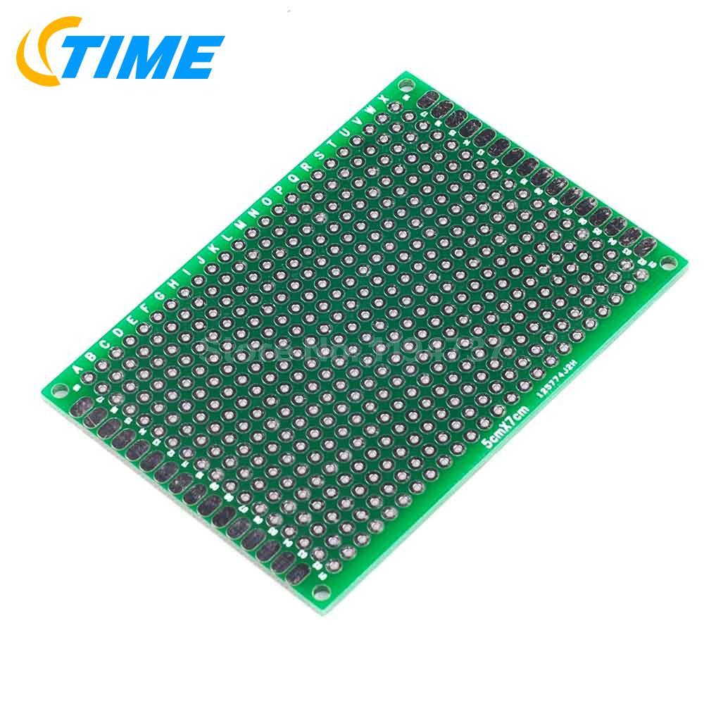 10pcs Prototype Pcb Board Protoboard Tinned Universal Breadboard Smps Circuit Fr4 2 Layer 5pcs 57cm Double Sided 5x7cm