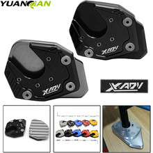 For Honda X-ADV X ADV XADV ampliar 2017 2018 Motorcycle Kickstand Extension Side Stand Plate Pad Enlarger logo