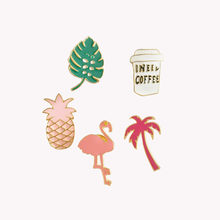 1 Set/5 Pcs Baru Flamingo Bros dan Enamel Pin untuk Wanita Pernikahan Lucu Pohon Broshes Fashion Perhiasan Aksesoris pesta Hadiah(China)