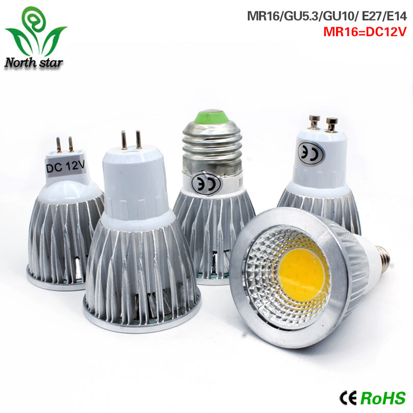 MUFAVA E27 E14 GU10 MR16 LED COB Spotlight Dimmable 9w 12w 15w Spot Light Bulb