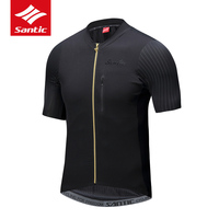 Santic 2018 New Professional Men Cycling Short Sleeve Jerseys Breathable Imported Italian Fabric Cuffs MTB Road Bike Jerseys