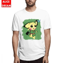The legend of zelda t shirt Linkachu T Shirt Men Fashion Homme Tee Shirt O-neck S-6XL Big Size Camiseta стоимость