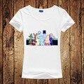 Mulheres verão Camiseta MOOMIN Mulheres Impressão Tshirt Engraçado Dos Desenhos Animados de Algodão Camisa Casual Para Senhora Branca Top Curto Tee Rua Do Moderno