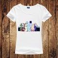 Summer Women Tshirt MOOMIN Cartoon Print Women Tshirt Funny Cotton Casual Shirt For Lady White Short Top Tee Hipster Street