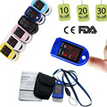 CONTEC 6 Colours New LED Fingertip Pulse Oximeter Blood Oxygen Spo2 Monitor CMS50DL CE&FDA Free Rubber Cases