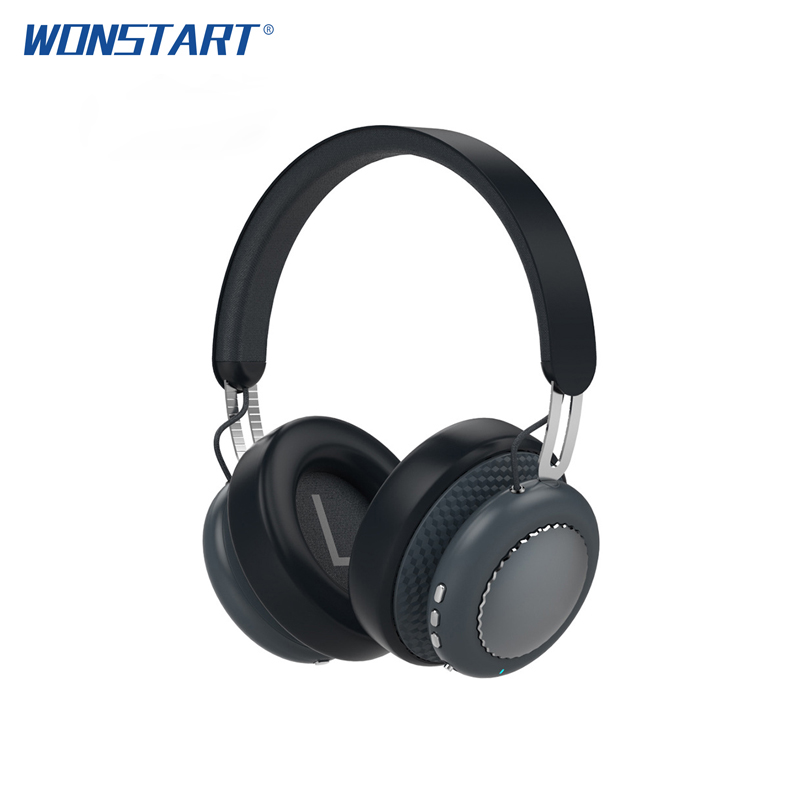 Wonstart Headset Active Noise Cancelling Wireless Bluetooth Headphones Wireless Headset with Mic ANC Folable Headset for Phone anc wireless bluetooth headphones active noise cancelling folable headset with rotal design over ear headphone fone de ouvido